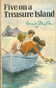 Original 3rd edition cover of the first book in the series Five on a Treasure Island