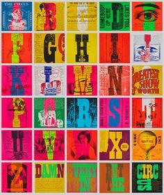 Corita Kent (1918-1986), 1968, circus alphabet and circus, serigraphs.
