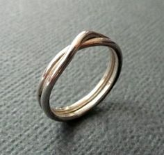 Ring. Infinity. Handmade Recycled Sterling Silver. Made in Australia from Epheriell