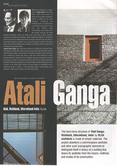 Architecture Update features Atali Ganga Resort by RLDA in their July 2013 issue