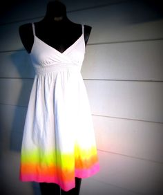 Wobisobi: Neon Sunshine Dress, DIY. I have a sundress very similar to this, MUST TRY
