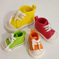 Cakes:  Converse Shoes Perfect for a boy baby shower