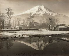 View Mount Fuji by Koyo Okada sold at Photographs on 22 Nov London . Active Volcano, Mount Fuji, Japanese Art, Mount Rainier, Street Photography, Monochrome, Tokyo, Skyline, London