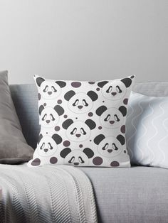 Cute panda-bear head pattern with purple polka dots • Millions of unique designs by independent artists. Find your thing.