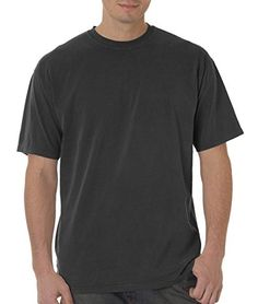 """Comfort Colors Men's Short Sleeve Tee. pre-shrunk 100% heavyweight garment-dyed cotton. 6.1-oz. shoulder-to-shoulder taping. 3/4"""""""" ribbed collar. set-in sleeves."""