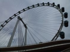 Observation wheel. You can even have cocktails on your 45 minute ride!