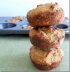 Paleo Dinner Rolls - 1.5 C almond flour, 2T coconut flour, 1.5 T dried sage, ¼ t salt, 1.5 t baking soda, 1 T honey, 1 T. apple cider vinegar, 1/4 C + 1 T coconut oil (melted), 4 large eggs