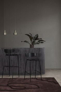 ferm LIVING's furniture collection is created in the Danish design tradition and consists of tables, sofas, and chairs created for daily life. Dark Interiors, Shop Interiors, Colorful Interiors, Grill Bar, Chaise Bar, Bar Chairs, Danish Design, Furniture Collection, Furniture Design