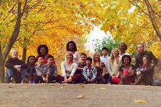 Large family portrait - group photo - fall picture