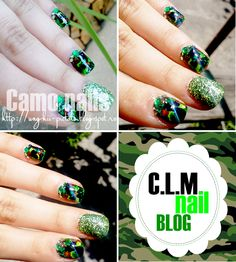 ♥ DOPE Beauty ♥: Camo nails- Colaborare (Inspired by a pattern)