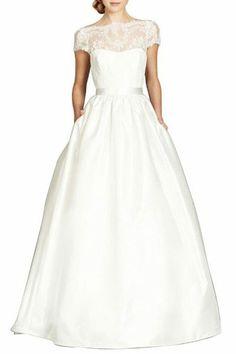 Gorgeous shape, Modest LDS wedding dress