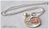 Hand stamped I love you to the moon and back...