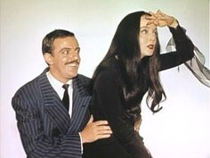 John Astin and Carolyn Jones The Addams Family Cast, Adams Family, Los Addams, Ted Cassidy, Monster Horror Movies, Morticia And Gomez Addams, Long Straight Black Hair, Charles Addams, Movies