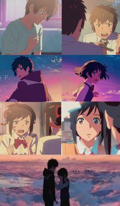 fondos   Tumblr Anime Gifs, Sad Anime, Anime Love, Kawaii Anime, Wallpaper Animes, Cartoon Wallpaper, Animes Wallpapers, Kimi No Na Wa, Mitsuha And Taki