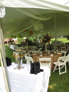 Legends Catering provided excellent food and service for this beautiful tented wedding reception in Virginia