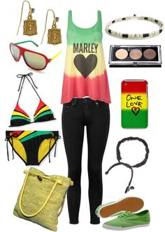 """Bob Marley: Rasta"" by jwink88 ❤ liked on Polyvore"
