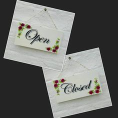 OPEN CLOSED Sign Double Sided Shop Business Sign Door Sign