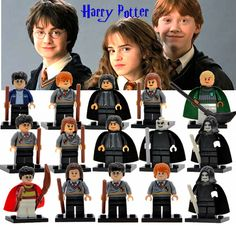$ - Awesome Harry Potter Figure Hermione Ginny Ron Weasley Lord Voldemort Draco Malfoy Luna Snape Building Blocks toys for children - Buy it Now!