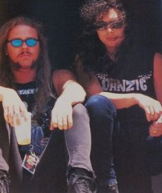 .James Hetfield and Kirk Hammett