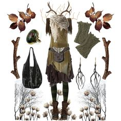 *Forest Witch 3* by pagana on Polyvore featuring Balmain, Cooper by Trelise, MM6 Maison Margiela, Jeffrey Campbell, Annette Ferdinandsen and The Wildness Jewellery