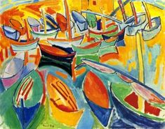 Boats At Martigues Artwork by Raoul Dufy