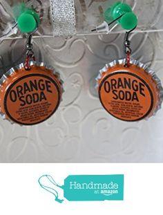Orange Soda Upcycled Bottlecap Earrings from Southern Women Crafts https://www.amazon.com/dp/B01M5CQUQL/ref=hnd_sw_r_pi_dp_XeTbyb07KBY75 #handmadeatamazon