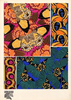 Eugène Séguy   Science and Textiles inspiration -Eugène Séguy (1890 – 1985) was a French entomologist who published many portfolios of illustrations and designs from the turn of the century to the 1930s who worked in both the Art Deco and Art Nouveau styles. Séguy wanted to use his artistic skill to glorify the sublime beauty of nature, creating what he called a 'world of sumptuous forms and colours.' He then transformed these beautiful illustrations into textile designs. Incredible –