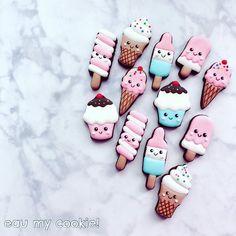 Mini Cookies, Ice Cream Cookies, Spice Cookies, Biscuit Cookies, Cute Cookies, Sugar Cookies, You Make Me Melt, Spy Birthday Parties, Cookie Recipes