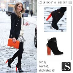 Olivia Palermo... isn't she lovely?   Find her boots and many other shoes and bags with Shot & Shop!