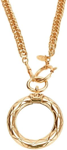 Chanel ~ Vintage circle pendant necklace