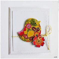 misha_cards / Vtáčik II