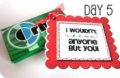 14 Days of Valentines with Printable Tags to attach to small gifts- perfect for that special someone!