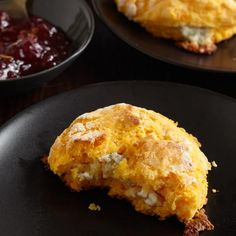 Squash and Stilton Biscuits | The dough for these biscuits uses leftover mashed squash or sweet potatoes and is very moist. You'll need to use plenty of flour when you pat the dough out for cutting.