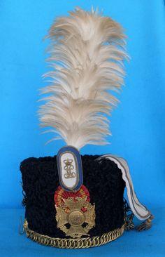 Kalpac Húsares de la Princesa. Academia de Caballería Military Cap, Military Uniforms, Arm Armor, Headgear, Headdress, Spanish, Arms, History, Bourbon
