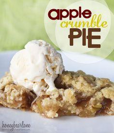 Apple Crumble Pie  #fallrecipes #applepie