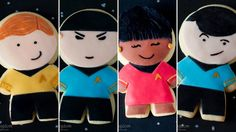 Star Trek character cookies; large one as a cake might be good for a kid.