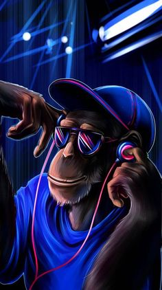 chilling monkey wallpaper for apple iphones. Monkey Wallpaper, Crazy Wallpaper, Music Wallpaper, Wallpaper Downloads, Mobile Wallpaper, Wallpaper Gratis, Hipster Wallpaper, Black Wallpaper, Graffiti Wallpaper Iphone