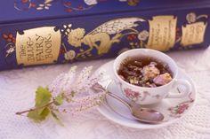 Blue Fairy Book and tea