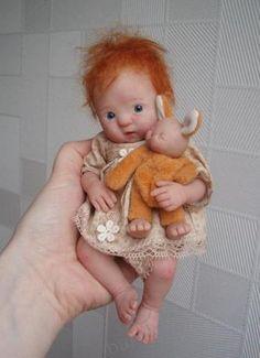 Polymer Clay ooak doll by Kim van de Wetering