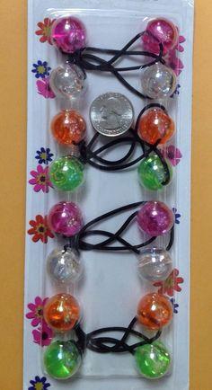 4.94$  Buy now - http://viqni.justgood.pw/vig/item.php?t=63si3fs22218 - flower blue green red jumbo beads hair tie girl Scrunchie Balls Ponytail Holder 4.94$