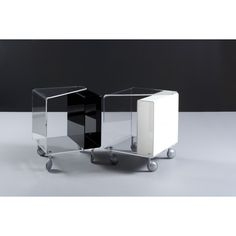 #Sidetable (side or occasional table) on wheels design inspiration ~ custom plastics fabrication for the design industry: www.peregrineplastics.com #plexiglass #acrylic #modernfurniture