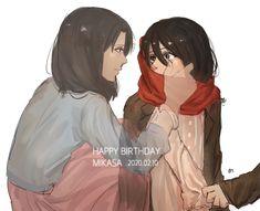 Eren X Mikasa, Armin Snk, Anime Girl Neko, Anime Girls, Rivamika, Aot Characters, Animes Yandere, Eremika, Hanabi