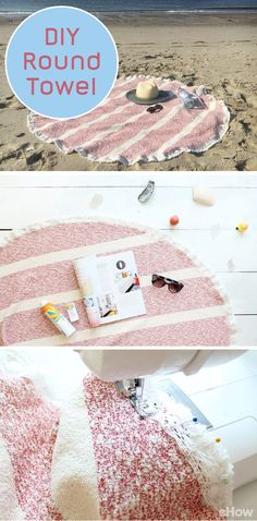 Round towels are in this year! Use them by the pool or on the sand at the beach. Making them only requires a few matierials and an hour of your time. DIY one with this tutorial: http://www.ehow.com/how_12343376_make-round-towel.html?utm_source=pinterest.com&utm_medium=referral&utm_content=freestyle&utm_campaign=fanpage
