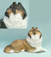 """Collie at Rest dog figurine 7½"""" x3½""""x4"""" $76"""