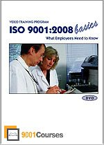 "The ""ISO 9001:2008 Basics - What Employees Need to Know"" DVD video training program is a basic introduction of the ISO 9001 standard and how it affects corporate staff. This multimedia ISO 9001 training is entertaining and just the right duration to keep employees interested; it's an effective yet inexpensive training solution."