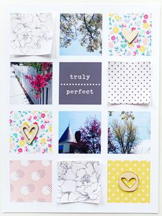 Project Life - Truly Perfect by analogpaper at @Studio_Calico.  Hearts on patterned paper.