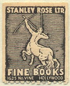 Stanley Rose ltd.  Fine Books  Hollywood, California 8531 Santa Monica Blvd West Hollywood, CA 90069 - Call or stop by anytime. UPDATE: Now ANYONE can call our Drug and Drama Helpline Free at 310-855-9168.
