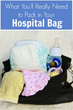 Pregnant? See my checklist of what you REALLY need to pack in your hospital bag as you prepare for labor and delivery of a new baby (from a second-time mom, going on three!)