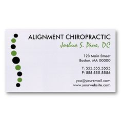 Chiropractic Business Card Ideas