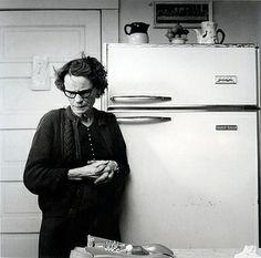 Emmet Gowin | Maggie in her kitchen, Danville, Virginia (1975)